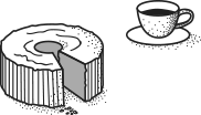 커피와 빵 일러스트