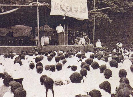 서울 용산군인교회 집회