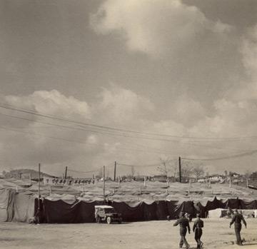 한강 집회 때 설치된 천막의 모습