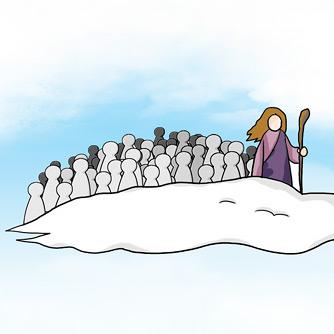 구름 위의 상태를 모른 예수
