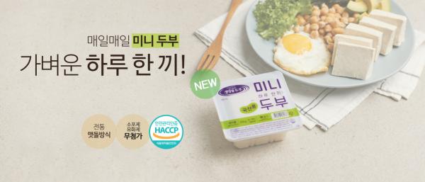 [신상품] 신앙촌소비조합 '국산 콩 생명물두부 미니두부'