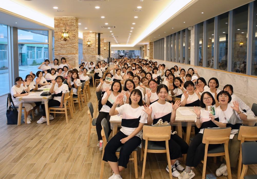 신앙촌 맛길에서 입사 32주년 기념 행사