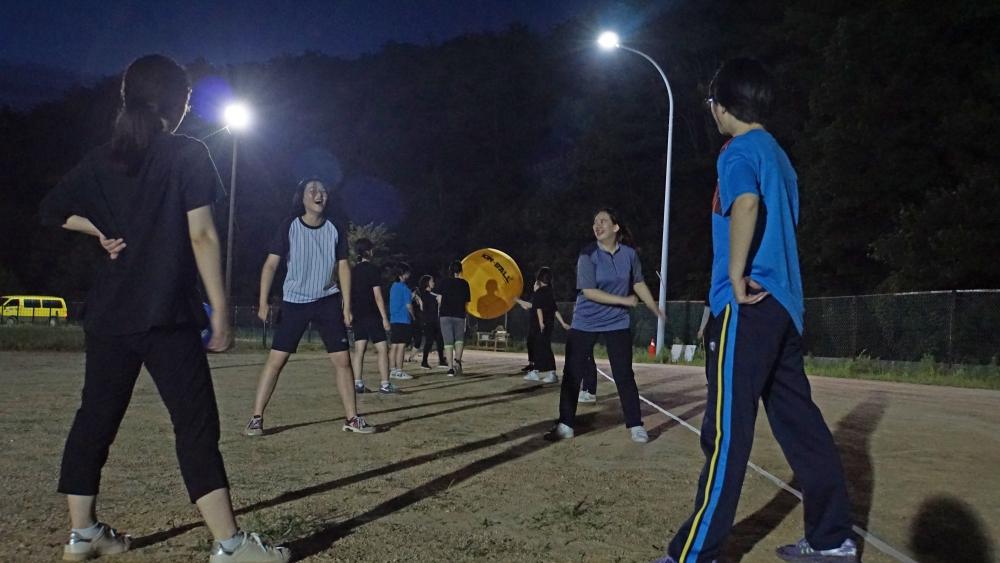 체육대회 준비 야간