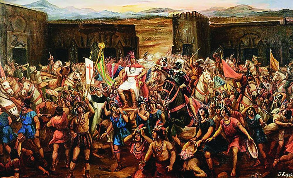 카하마르카 전투의 모습