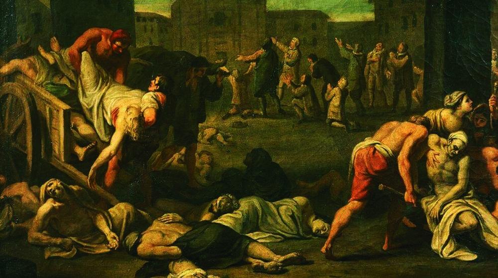 6세기경 페스트로 죽어가는 유럽 사람들